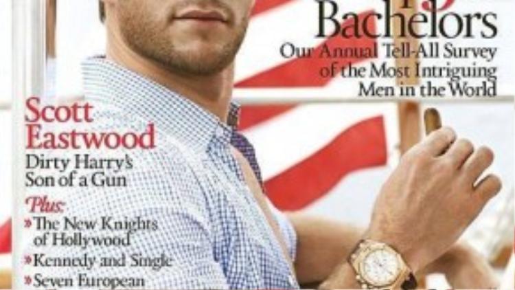 """Scott Eastwood trên ảnh bìa tạp chí """"Town & Country"""" vào tháng 2/2014."""