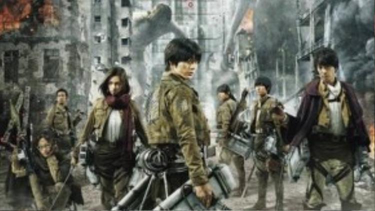 """""""Attack on Titan"""" (Đại chiến Titan) khởi chiếu trên toàn quốc từ 4/9."""