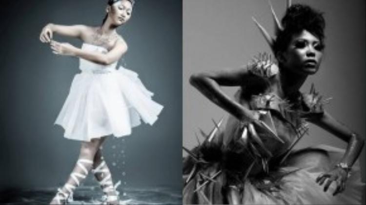 Hai trong số nhiều mẫu thiết kế ấn tượng của Nguyễn Kim Chi trong thời gian tham gia CLB thời trang ở trường cấp 3. Ảnh: Chichi Nguyen.