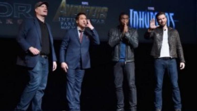 Giám đốc Marvel Studios giới thiệu về loạt phim mới vàlý giải những tin đồn xoay quanh Marvel Cinematic Universe, cùng với Robert Downey Jr., Chadwick Boseman và Chris Evans.