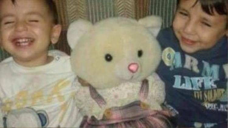 Hai anh em Aylan (3 tuổi) và Galip (5 tuổi) khi còn sống.
