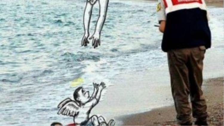 Bức ảnh là những lời kêu gọi hành động vì những người dân di cư.