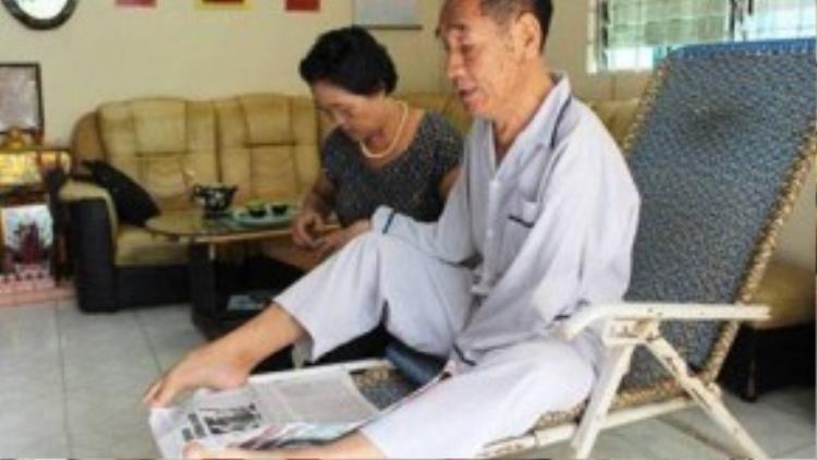 Thầy Nguyễn Ngọc Ký luôn là tấm gương sáng về nghị lực. Ảnh: Lê Na