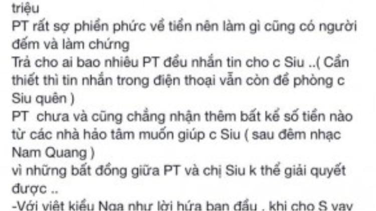 Dòng chia sẻ dài của Phương Thanh trên facebook cá nhân.