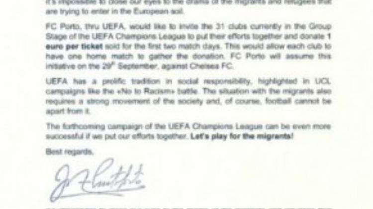 Bức tâm thư của ông gửi đến Chủ tịch LĐBĐ Châu Âu