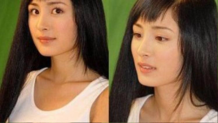 Vẻ đẹp năm ấy của Dương Mịch, dù không nổi trội nhưng ưa nhìn.