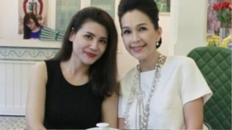 Diễm My & nữ diễn viên Quỳnh Hoa.