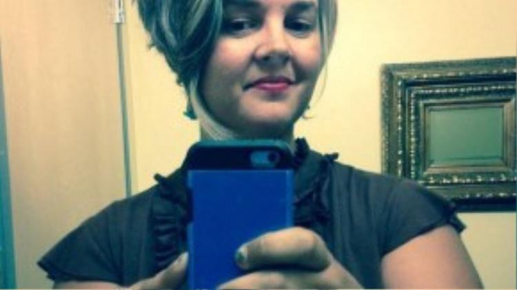 Amy Pence-Brown, một bà mẹ 3 con, nhân vật chính của câu chuyện. (Ảnh: Instagram idaho_amy)