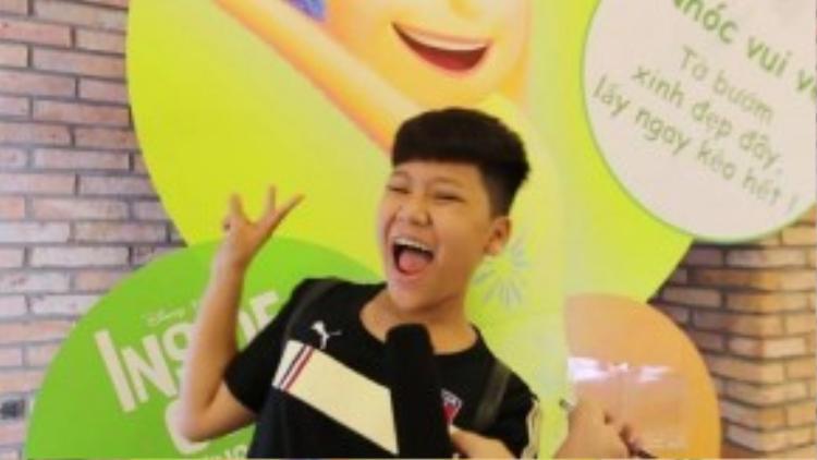 Hà My, Hà Vy và Quang Trường rất ngưỡng mộ Joy Vui Vẻ.