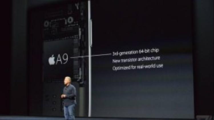 iPad Pro sử dụng bộ xử lý A9x 64-bit mới của Apple với tốc độ nhanh hơn 1.8 lần so với thế hệ trước.