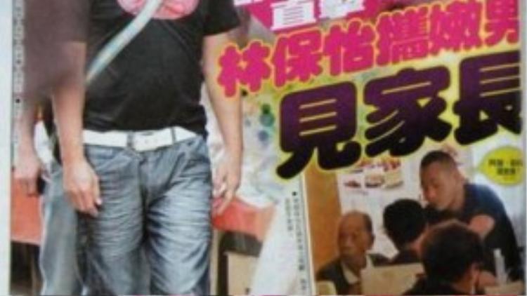 Lâm Bảo Di bên tình mới (ảnh trái).