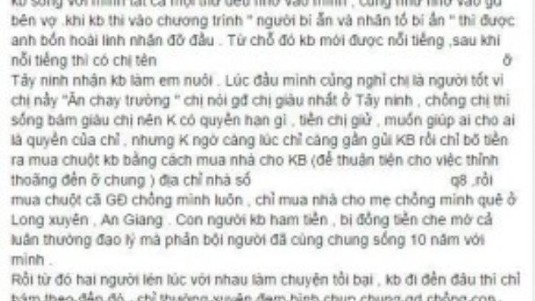 Một phần tiết lộ gây sốc về Khánh Bình.