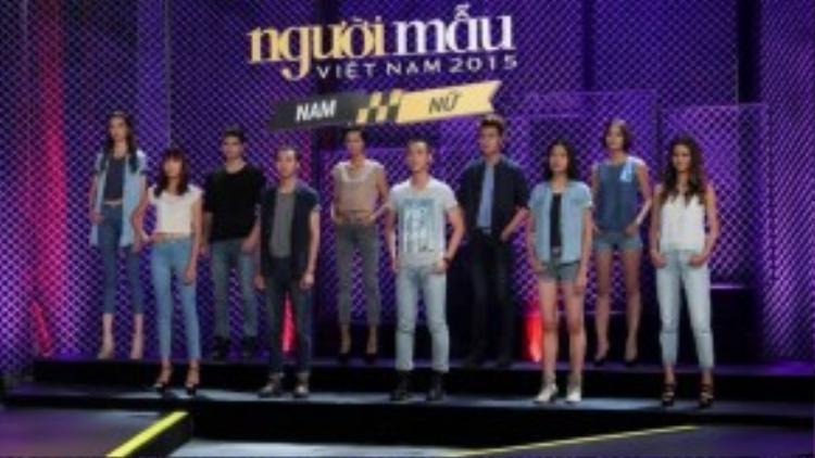 Các thí sinh trong phần đánh giá và loại của chương trình.