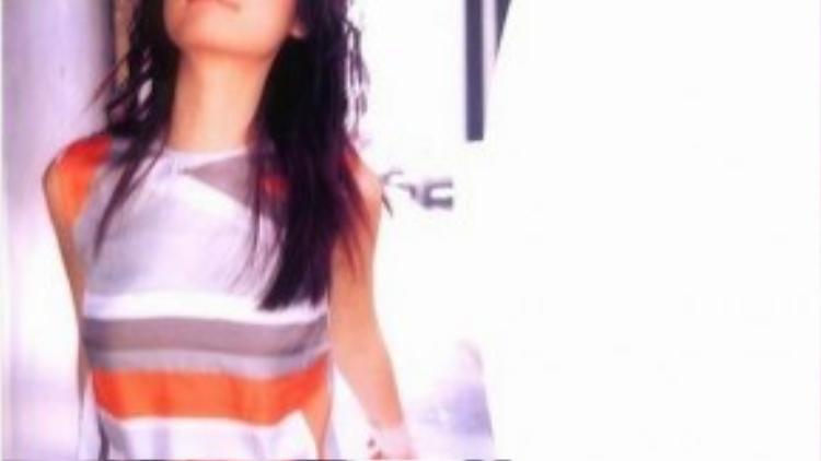 Lâm Tâm Như đắt show người mẫu khi mới 17 tuổi.