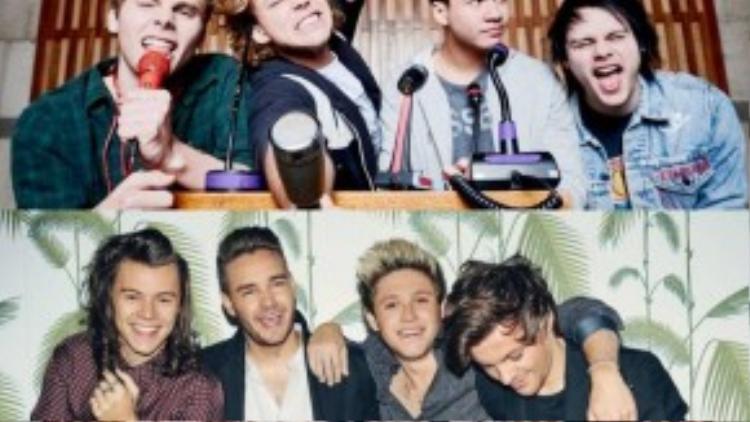 Trong khi hai boy bandhàng đầu hiện nay One Direction và 5 Seconds of Summer cũng đang trên chặng đua để giành 2giải thưởng Best Pop và Biggest Fans.