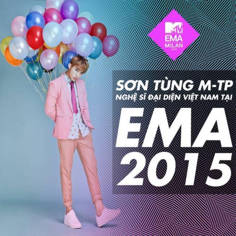 Sơn Tùng chính thức khởi động cuộc đua đến EMAs 2015