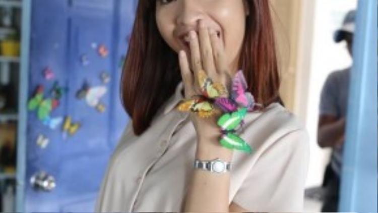 Kim Nhã thử sức với một vai diễn khác xa hoàn toàn con người ngoài đời của cô.