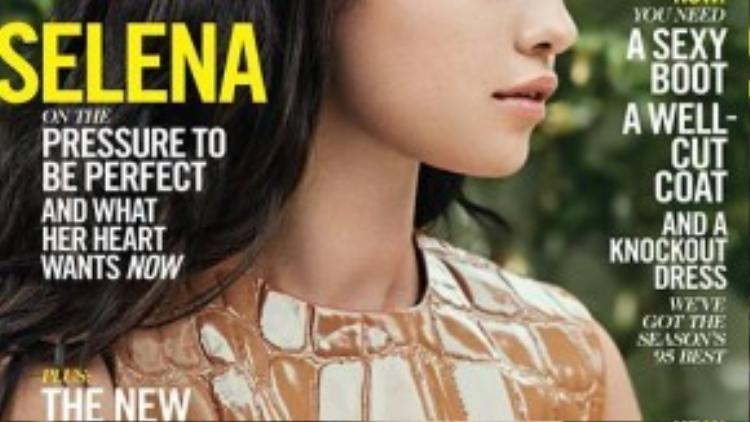 Selena trên trang bìa tạp chí Elle số tháng 10/2015.