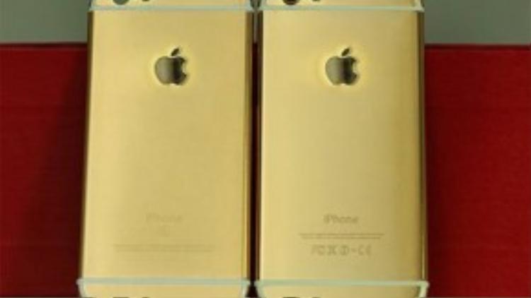 iPhone 6 cũng được mạ thành iPhone 6s vàng.
