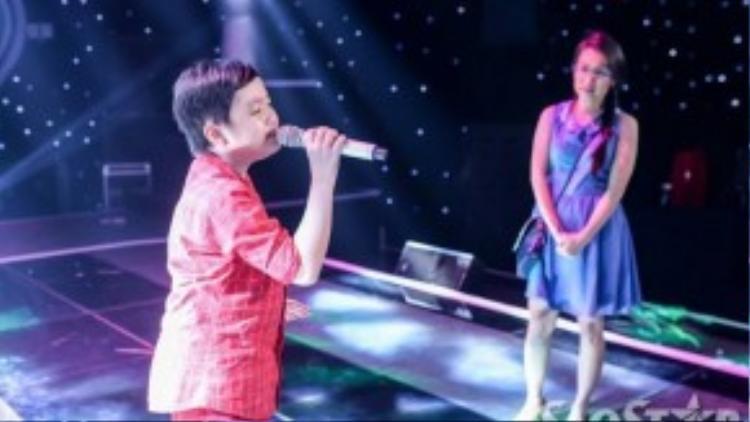 Cậu bé Trương Thế Thanh cũng có mặt trong đêm liveshow 2.