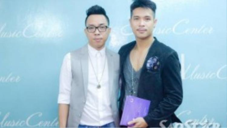 Trương Quốc Vinh và nhạc sĩ Nguyễn Hồng Thuận