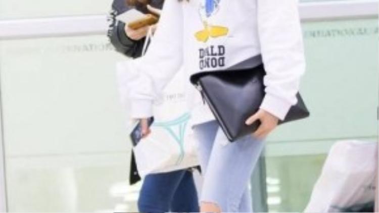 và các cô gái của After School cũng chọn skinny để tăng chiều cao cho mình.