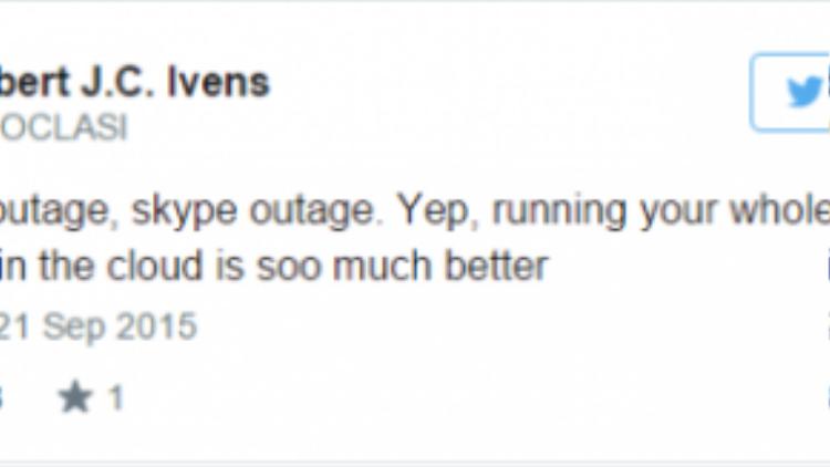 """Một người dùng cho biết Amazon và giờ là Skype đang """"sập"""". Điều này ảnh hưởng lớn tới công việc kinh doanh của anh ta."""