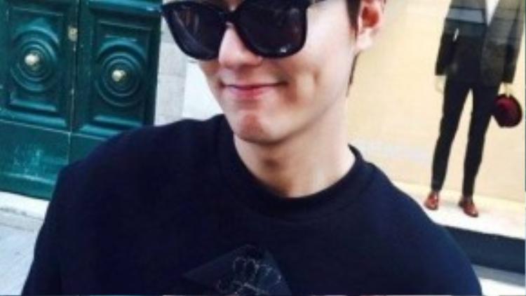 Lee Min Ho đăng ảnh đang ở Ý hôm 21/9.