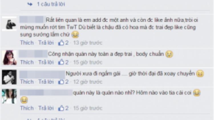 Những bình luận phấn khích của cư dân mạng.