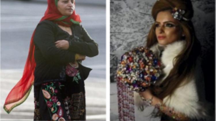 Mẹ của Nadia - bà Ruksana Kousar, 55 tuổi (hình bên trái).