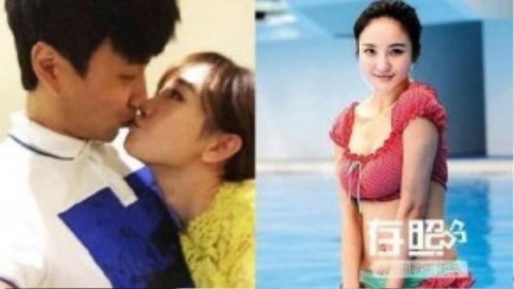 Trương Mông và bạn trai mới (ảnh trái) cũng là chồng cũ của Lưu Vũ Hân (phải).