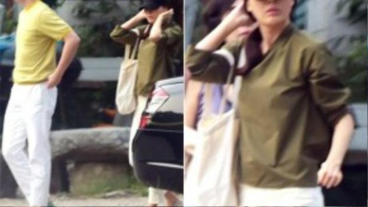 Kim Ha Neul bị bắt gặp bên bạn trai.