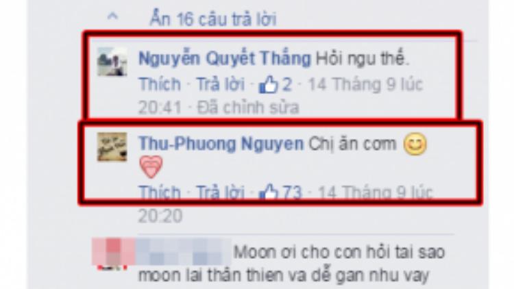 Tài khoản Nguyễn Quyết Thắng được cho là của bố Kiều Anh cùng bình luận đã được chỉnh sửa.