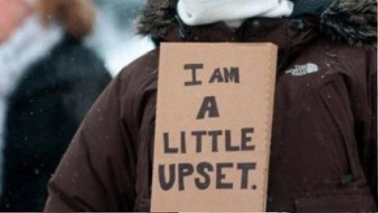 """Một cách biểu tình rất """"khiêm tốn"""" : Tôi có hơi thất vọng một chút."""