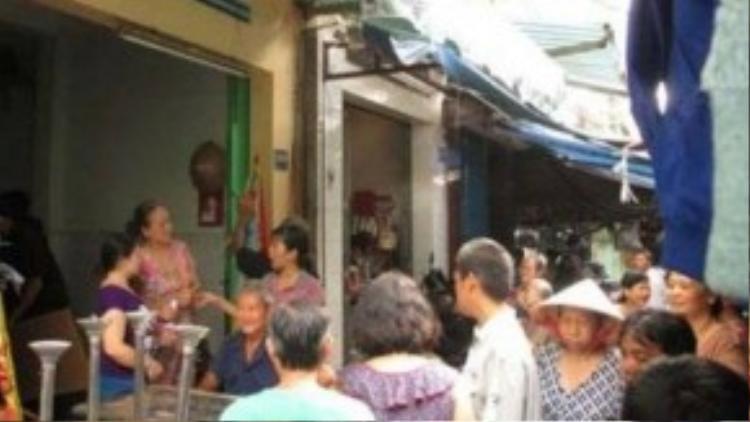 Căn nhà xảy ra án mạng giết mẹ của tên Tô Minh Nhật Hải.