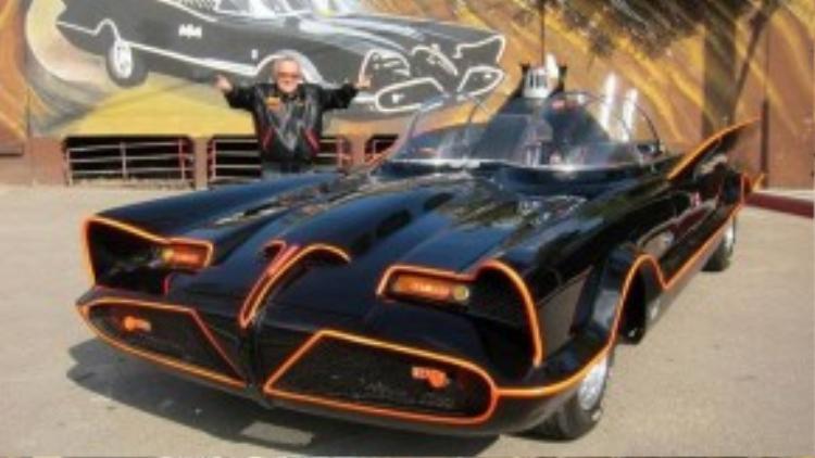 Thiết kế của chiếc xe dơi (batmobile) trong phim truyền hình năm 1966.