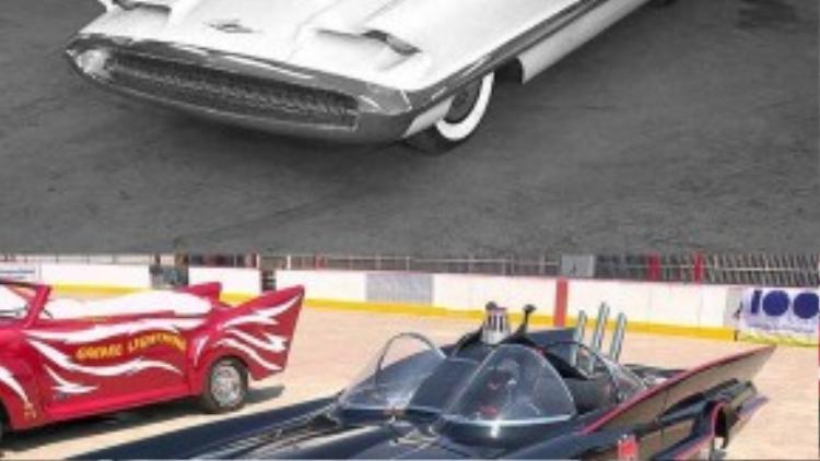 Tạo hình của batmobile trong những bộ phim năm 1960 thực chất được lấy ý tưởng từ mẫu xe Lincoln Futura năm 1955.