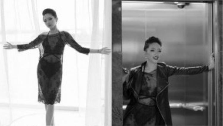 Cuối 2014, Tóc Tiên tung MV Tell Me Why tận dụng triệt đệ lợi thế ngoại hình gợi cảm. Một trong những trang phục bỏng mắt của nữ ca sĩ trong MV là bộ nội y ren được Tóc Tiên khéo léo khoe qua chiếc váy xuyên thấu.