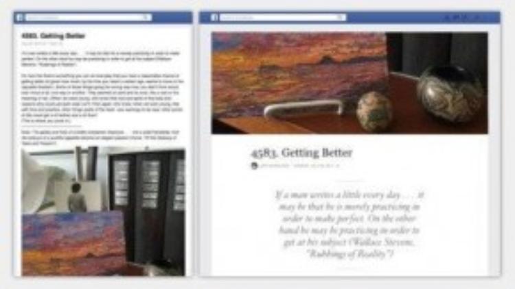 Phần viết Notes trên Facebook được thay đổi hoàn toàn và giúp nó trở nên dễ nhìn và đẹp hơn nhiều.
