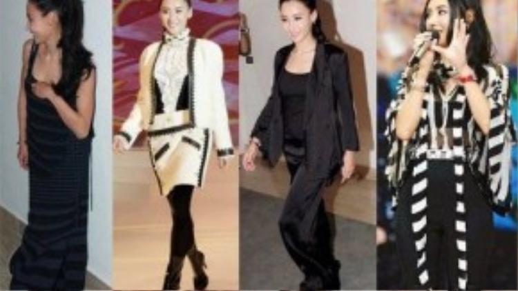 Tại các sự kiện gần đây, Trương Bá Chi diện những bộ đồ kém trẻ trung, không tôn dáng.