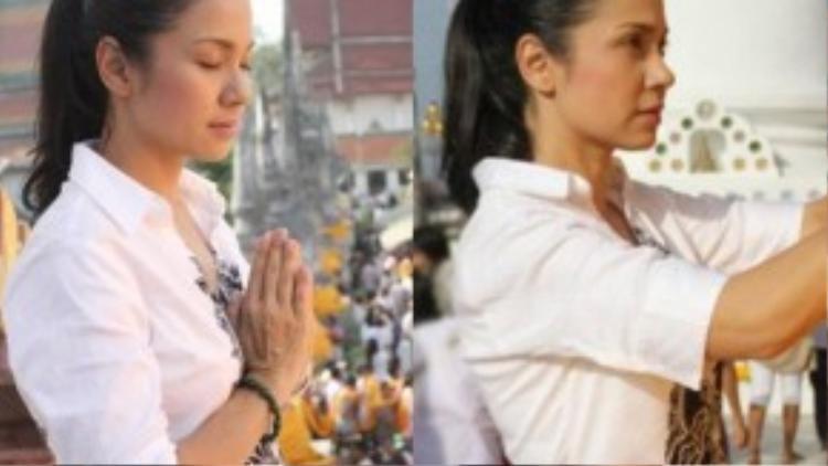 Việt Trinh từng nhiều lần chia sẻ rằng sức mạnh tinh thần giúp chị vượt qua những biến cố trong cuộc sống là niềm tin nơi Phật pháp. Từ đó, chị quyết định theo Phật và ăn chay trường. Chị từng được đề cử vào danh sách 300 Ngôi sao ăn chay hấp dẫn nhất thế giới của Tổ chức bảo vệ quyền lợi động vật (PETA) châu Á.