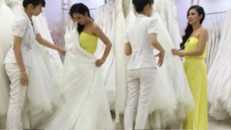Cách đây không lâu, dư luận đã rất bất ngờ trước thông tin Việt Trinh chuẩn bị lên xe hoa ở tuổi 43. Thông tin này xuất phát từ những bức ảnh ghi lại cảnh chị đang thử váy cưới.
