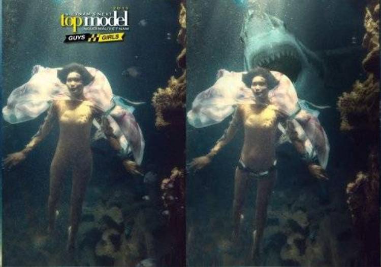Hot boy Ngoại thương chế lại loạt ảnh chụp dưới nước của VNTM