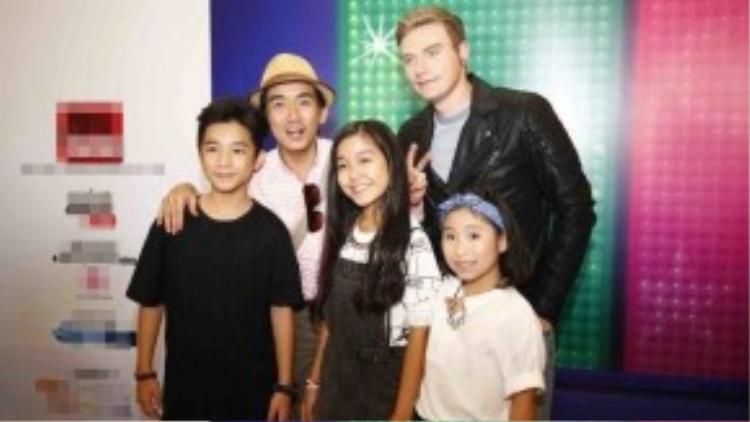 Minh Thuận, Kyo York và các bé Gương mặt thân quen nhí.