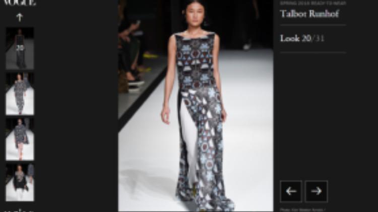 Ngay sau show diễn, tất cả các trang báo thời trang uy tín của thế giới như Vogue.com, Vogue.com.au, Vogue.uk, Now Fashion, ELLE.it, … đều đưa thông tin và hình ảnh về sự kiện này của hai nhà thiết kế Adrian Runhof và NTK Johnny Talbot - thương hiệu Talbot Runhof.