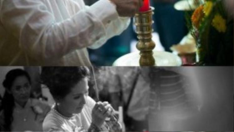 Ông xã Ngân Quỳnh giúp chủ trì buổi lễ.