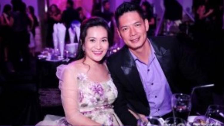 Vợ chồng MC Bình Minh.