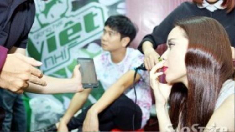 Lưu Hương Giang và Hồ Hoài Anh.