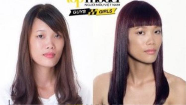 Nguyễn Hợp sở hữu gương mặt không đẹp nhưng khi lên ảnh cô là thí sinh có nhiều góc cạnh trên gương mặt đẹp nhất.