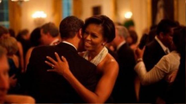 Cặp đôi hoàn hảo khiêu vũ tại Tiệc các thống đốc, tháng 2/2009.